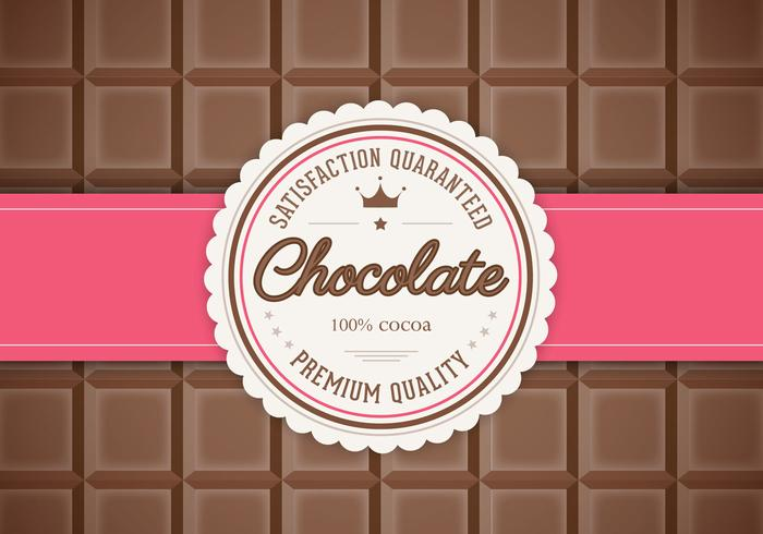 Bar of Chocolate Background Vector