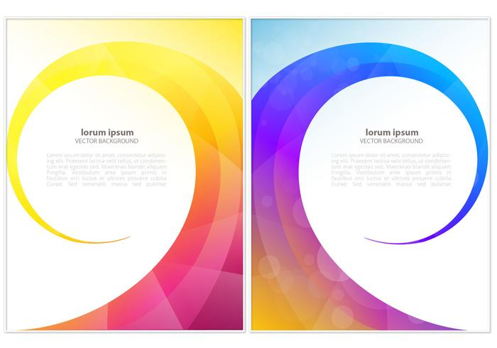 Bright Colored Swirl Vector Background