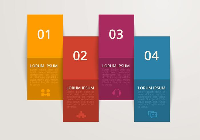 Folded Colored Paper Vector Banners