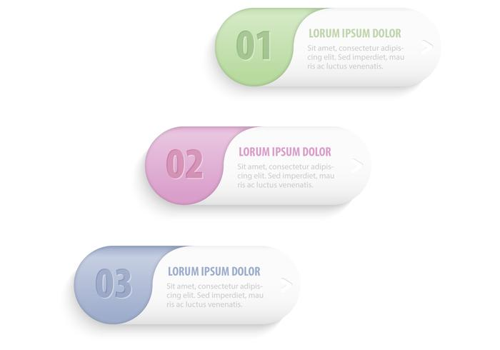 Pastel Banners Buttons Vector Set