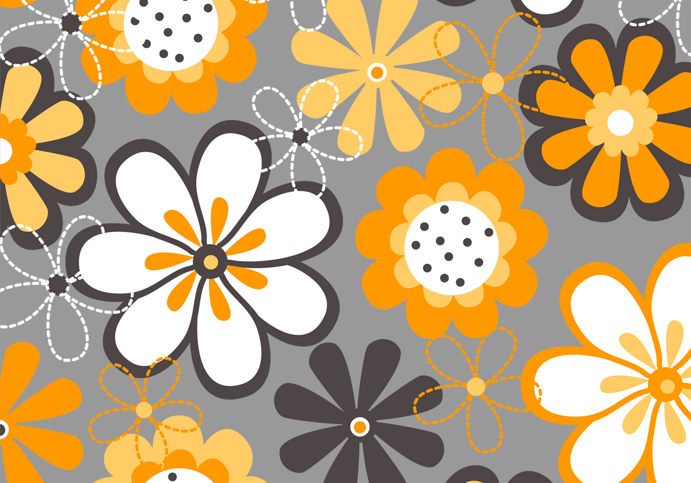 Spring Flowers Background Vector Download Free Vectors Clipart
