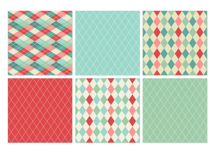 Retro Harlequin Vector Patterns