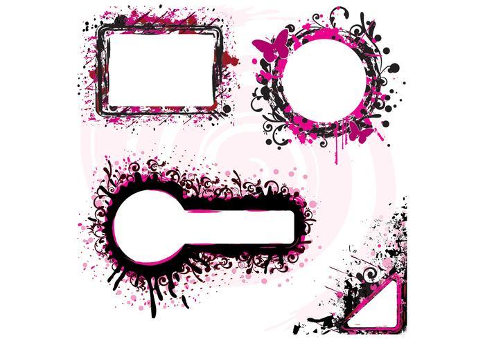 Grunge splatter banner vektorer