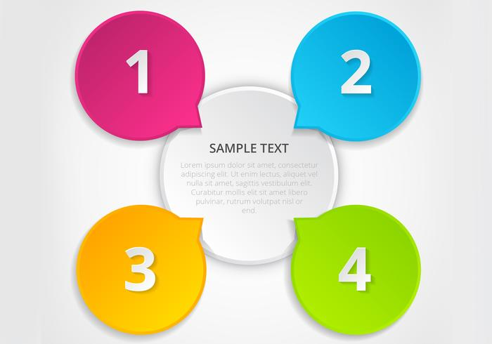 Colorful Infographic Vector Template