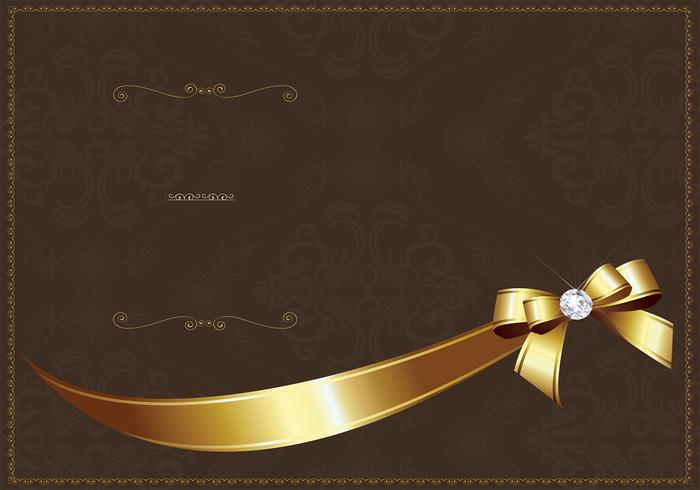 Modèle Golden Luxury Invitation Vector
