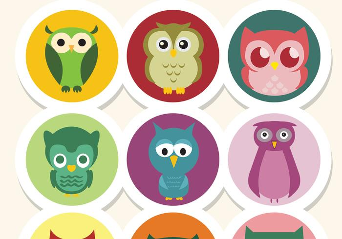 Cute Owl Vectors