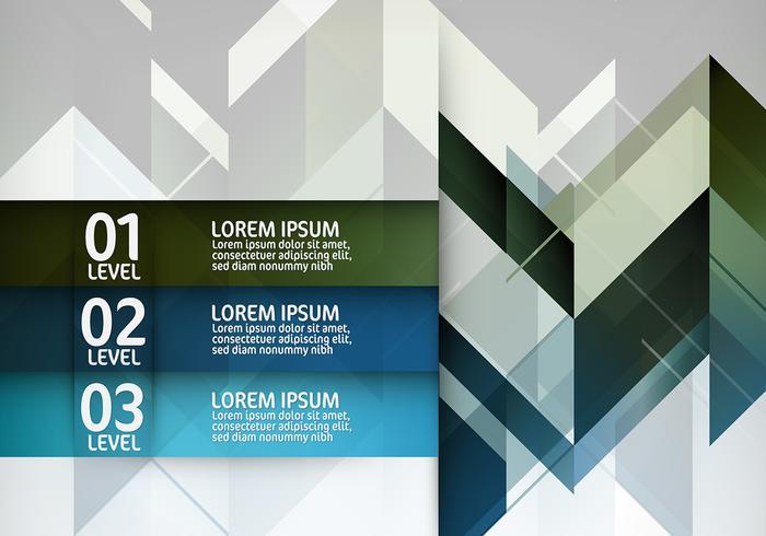 Geometrische Infografik Vektor Hintergrund