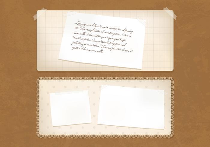 Gamla Vintage Papper Banners Vector Set