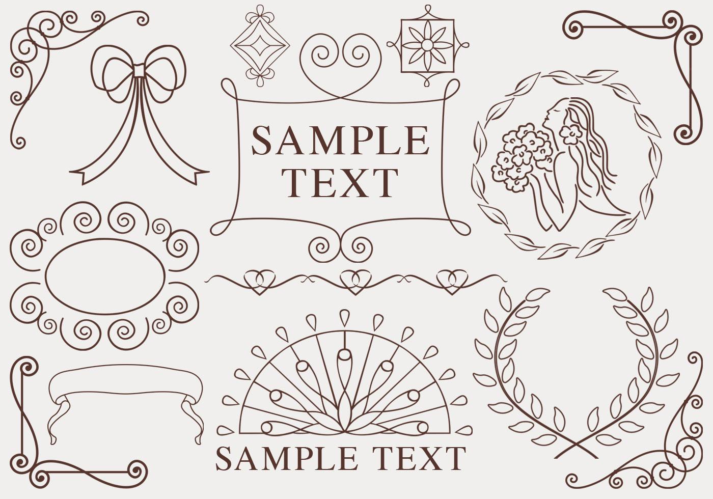 Hand gezeichnet Ornamente Vector Pack - Kostenlose Vektor-Kunst ...