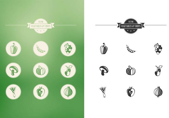 Fruits et légumes set vector