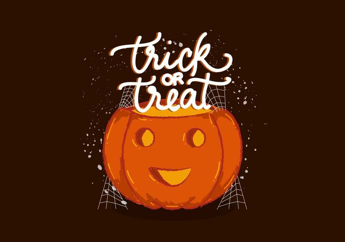 Trick or Treat Pumpkin Vector