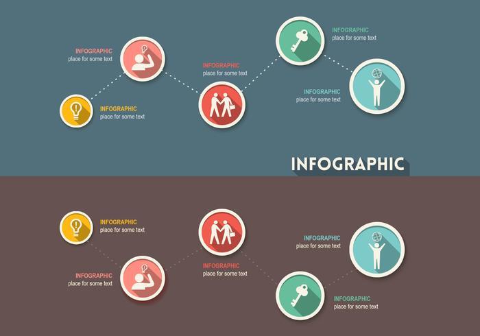 Vetor infográfico criativo