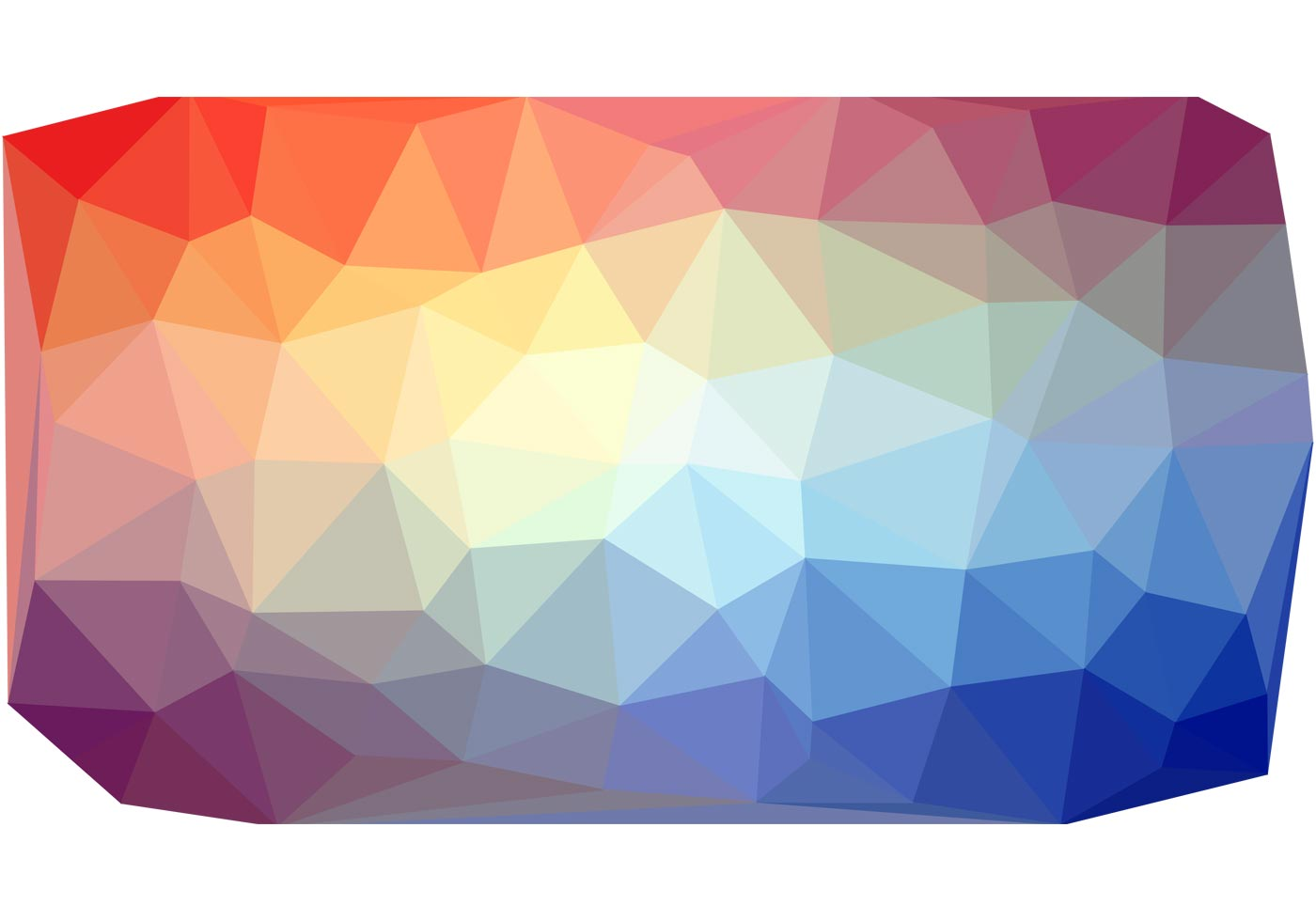 Colorful Polygon Vector Background Free Vector Art At