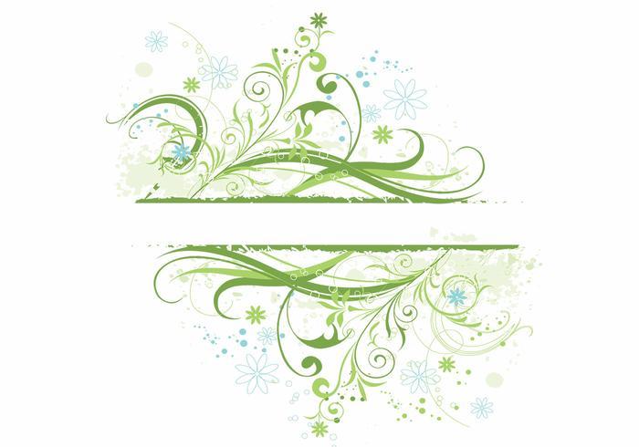 Floral Grunge Hintergrund Vektor