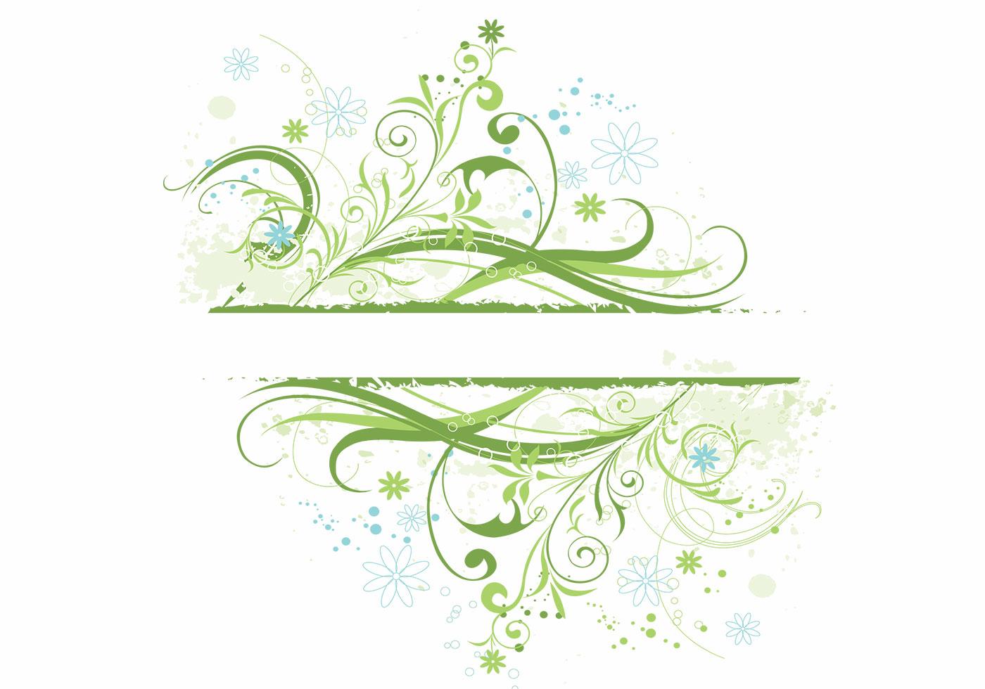 Floral Grunge Background Vector - Download Free Vectors ...