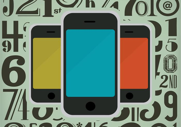 Smart Phone Number Hintergrund Vektor