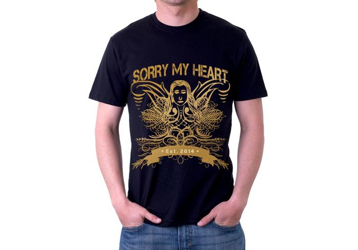 Sorry My Heart Grunge Tshirt Vector Design