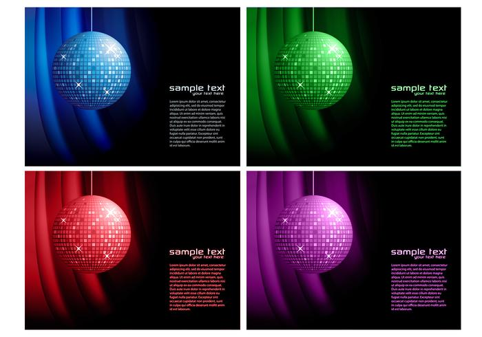 Disco Ball Achtergrond Vector