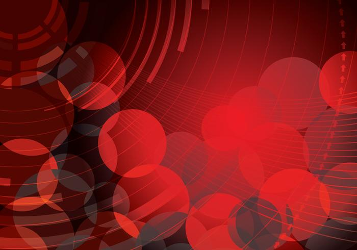 Red Abstract Circle Background Two Vector