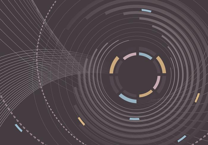 Linear Circle Background Vector