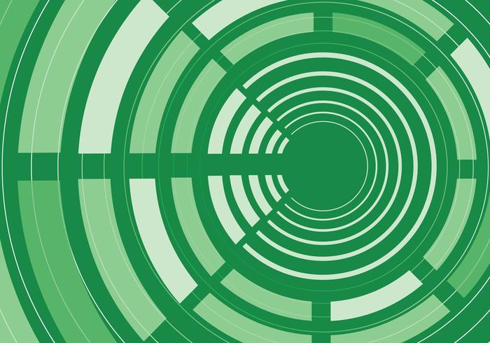 Green Abstract Circle Background Vector
