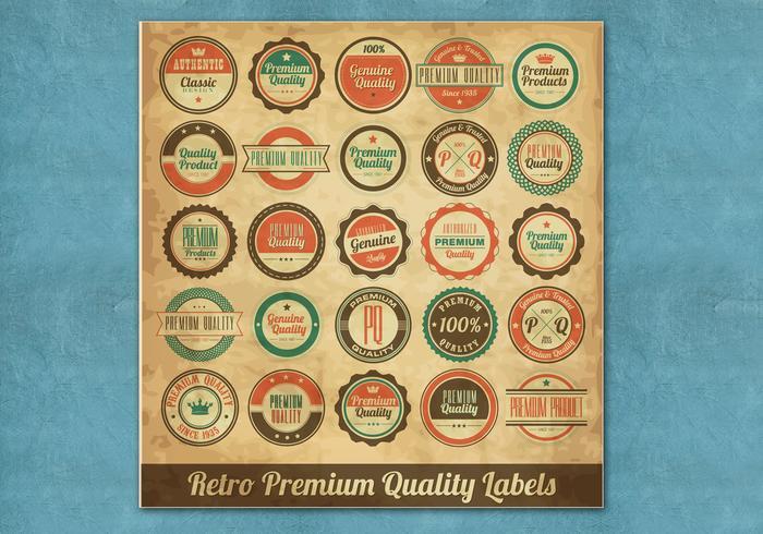 Vintage Premium Label Vectors