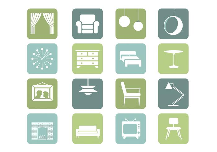 Furniture Icons Vector Collection