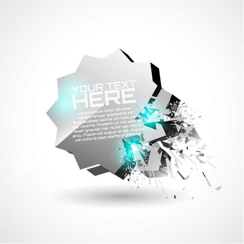 3D Explosion Background Vector