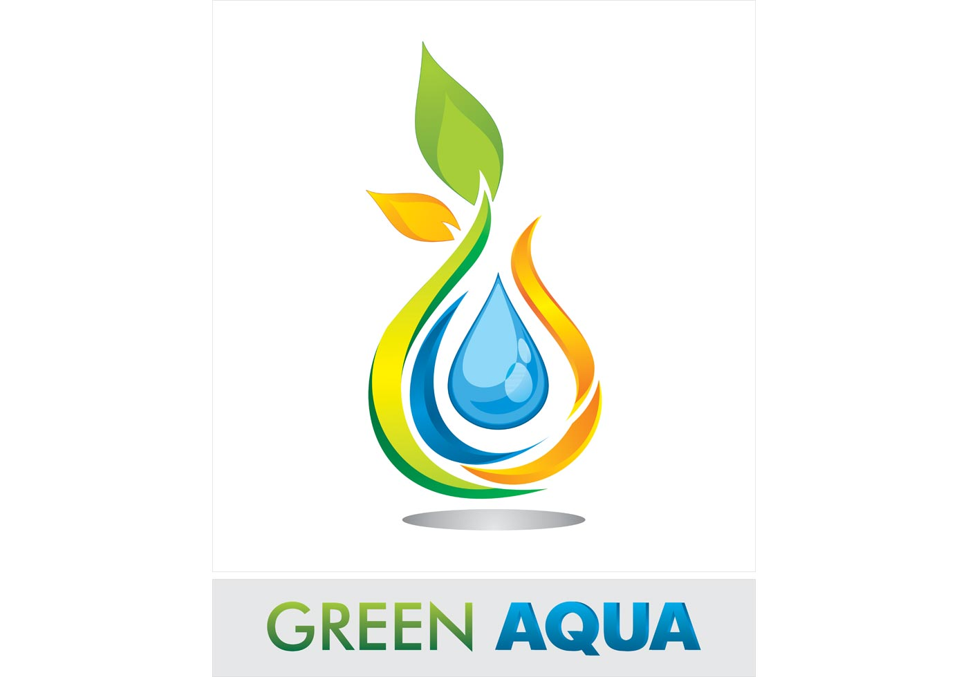 Green Aqua Logo Vector | Free Vector Art at Vecteezy!