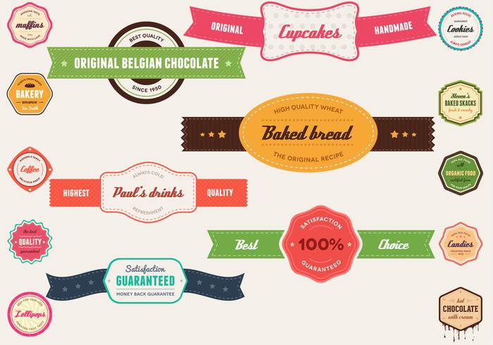 Vintage Banner and Badge Vector Pack