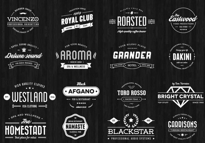 Vintage Badge Vector Pack