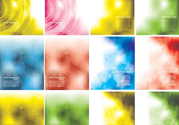 Abstrakt Bokeh Bakgrund Vector Pack