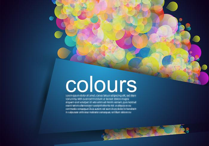 Glowing Bubble Banner Background Vector