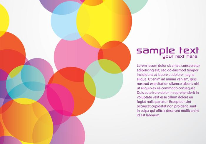 Bright Circle Background Vector
