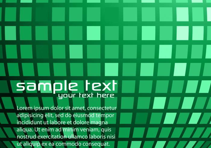 Green Disco Ball Background Vector
