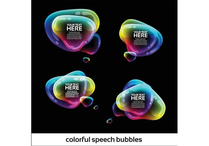 Iridescent Speech Bubbles Vector Pack