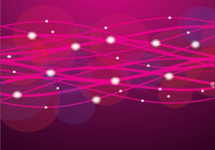 Pink Glowing Lines Vector Background