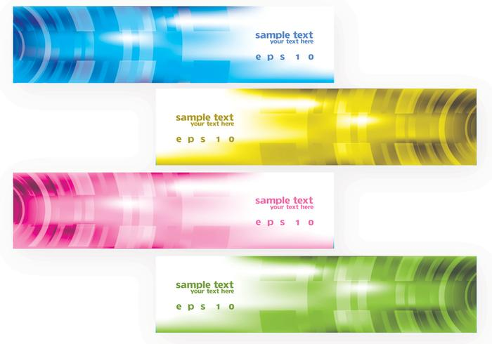 Bright Modern Banners Vector Set