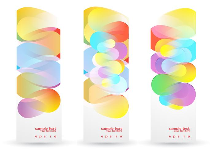 Colorful Funky Banners Vector Set
