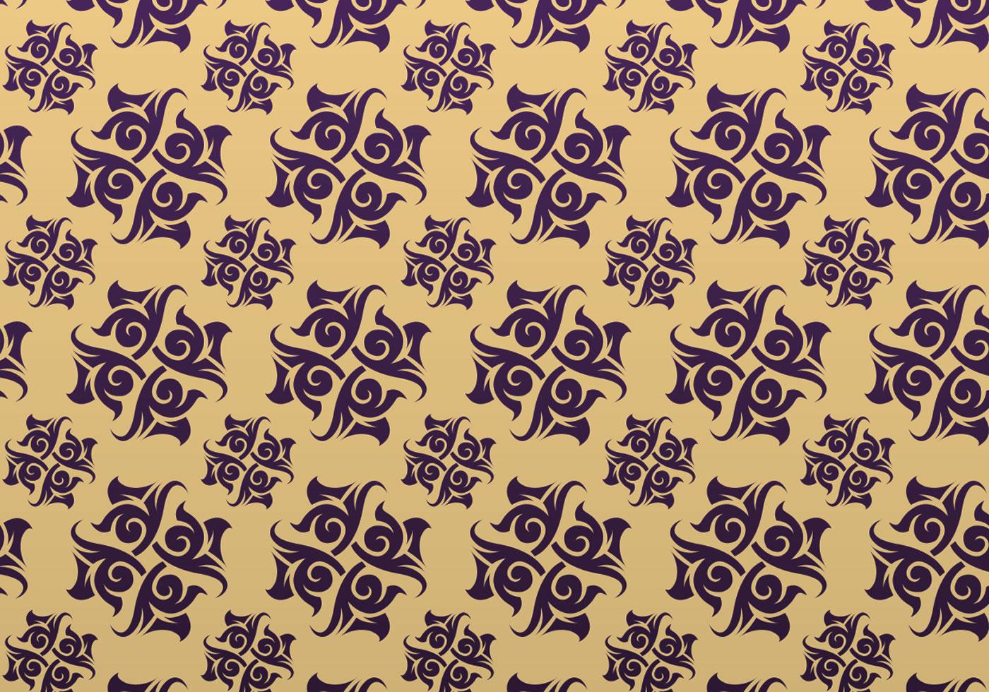 purple and gold ornamental vector patterned background. Black Bedroom Furniture Sets. Home Design Ideas