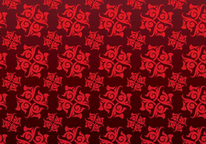 Red Ornamental Vector Patterned Background