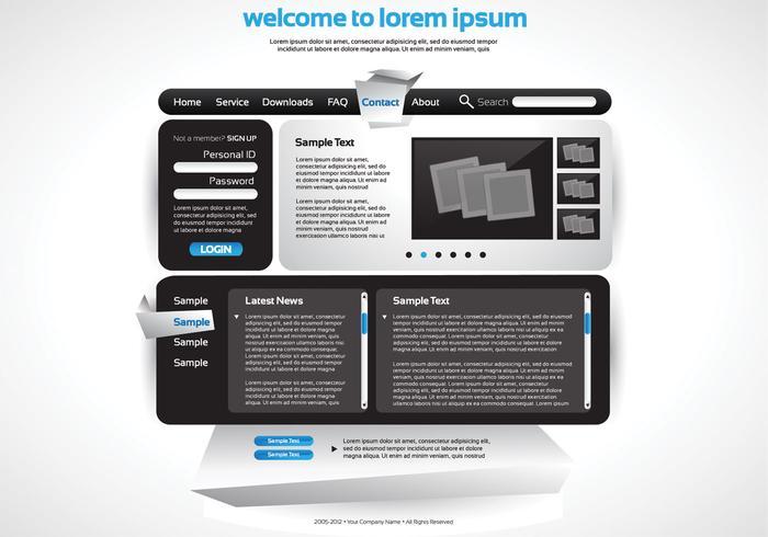 Sleek Website Vector Vorlage