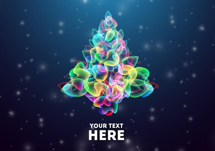 Glowing Abstract Christmas Tree Vector