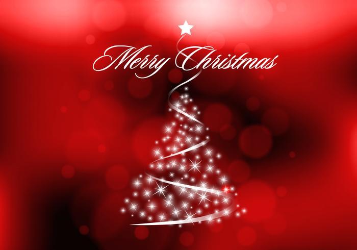 Rojo Sparkly árbol de Navidad Vector