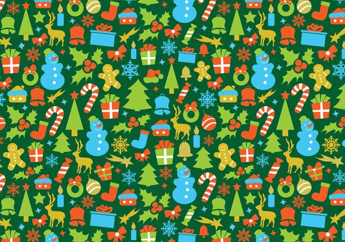 Retro Christmas Vector Pattern