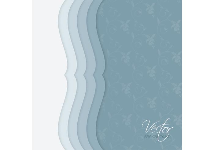 Blue Vintage Floral Background Vector