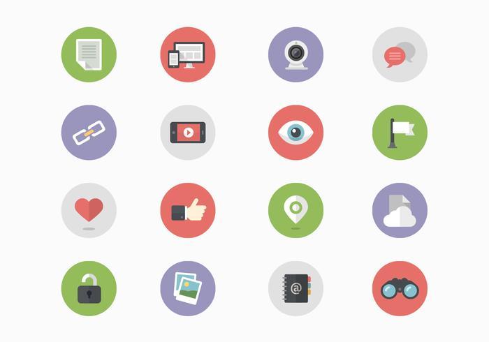 16 Vettori dell'icona di media sociali