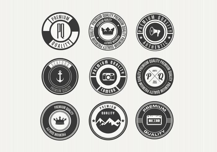 Verschiedene Retro Premium Badge Vectors