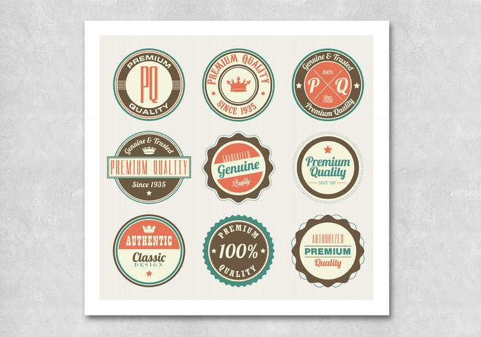 Circulaire Retro Premium Badge Vectoren