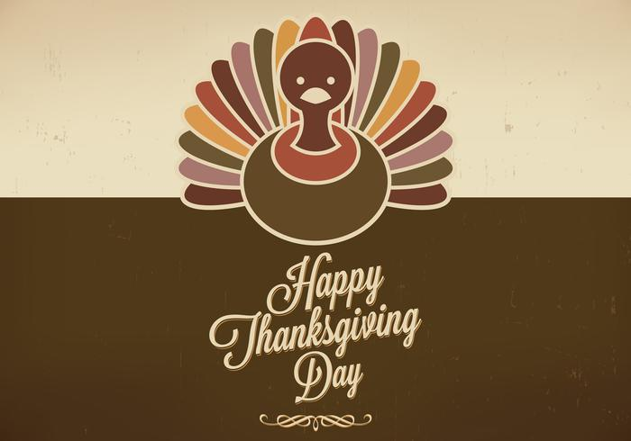 Grungy Thanksgiving Achtergrond Vector